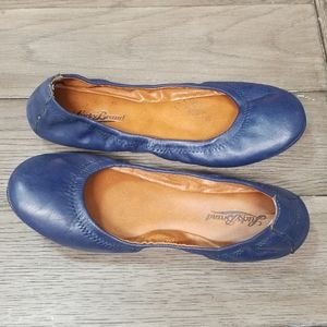 Lucky Brand blue leather flats size 7